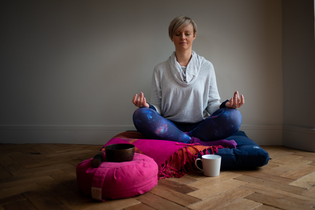 Louise Cullen Meditating